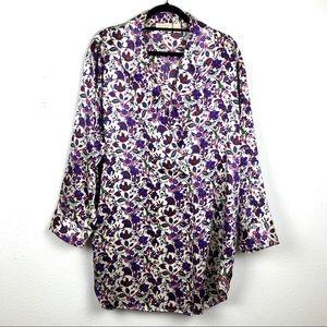 VICTORIAS SECRET Vintage Floral Blazer Robe